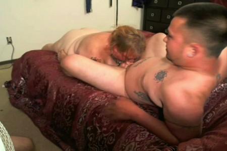 Mature man and big tit girl