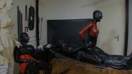 Bizarre White Rubber Nurse Leila Part 7 Of 8