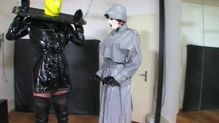 Strict Vinyl Rain Coat Mistress Leila Part 1 Of 2